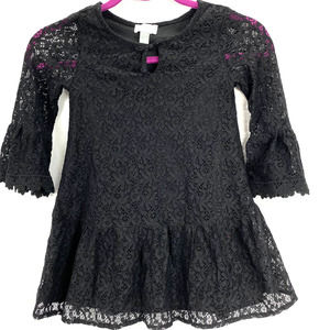 Children's Place Lace Overlay Dress Black - S 5/6